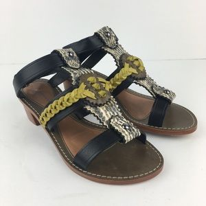 Anthropologie LeifsdotterMustard/Snakeskin Sandals